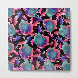 Abstract floral background 999 Metal Print