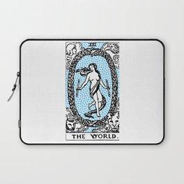 Modern Tarot Design - 21 The World Laptop Sleeve