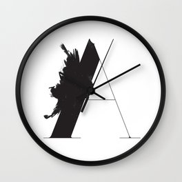 A is for Astronom Wall Clock