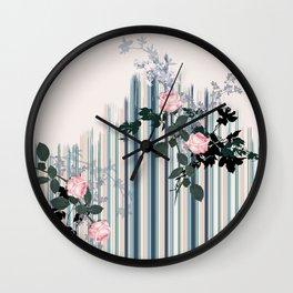 Uneven stripe Wall Clock