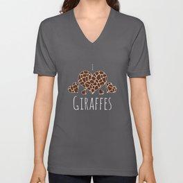Top Fun Kids Giraffes Lover Design Unisex V-Neck