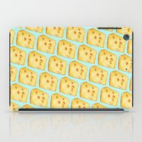 cheese iPad Cases featuring Cheese Pattern by Kelly Gilleran