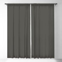 Solid Color Pantone Beluga 19-0405 Dark Gray Brown Blackout Curtain