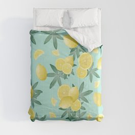 Lemon Twist Vibes #4 #tropical #fruit #decor #art #society6 Comforters