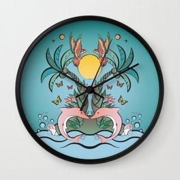 Tropical Island Wall Clock