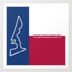 United States Grand Prix Art Print