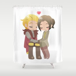 Dragon Age - Cullen and Inquisitor [Commission] Shower Curtain