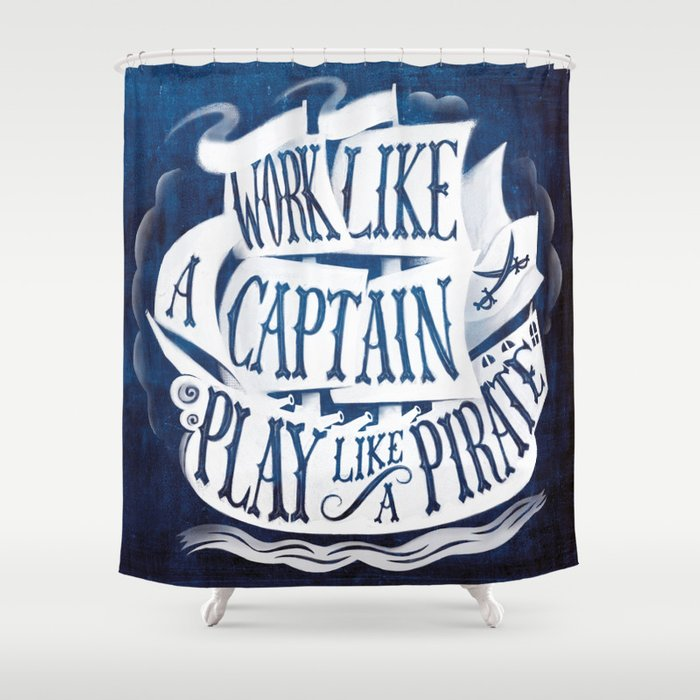 superb Pirate Shower Curtain Part - 14: like a pirate Shower Curtain
