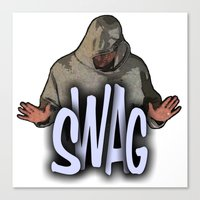 swag Canvas Prints featuring SWAG  by Robleedesigns