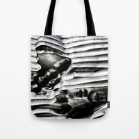 metal Tote Bags featuring Metal by Christine Becksted Images