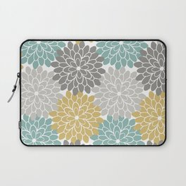 Pastel Petals in Light Amber, Light Opal, Pale and Dark Grey Laptop Sleeve