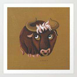 Taurus (ocher) Art Print