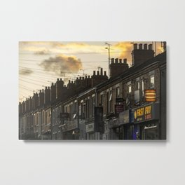 a Coventry Terrace Metal Print