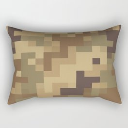 Army Camouflage Pixelated Pattern Brown Dirt Desert Rectangular Pillow