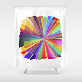 colorful love Shower Curtain