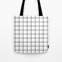 grid Tote Bags featuring GRID by Anna Lindner