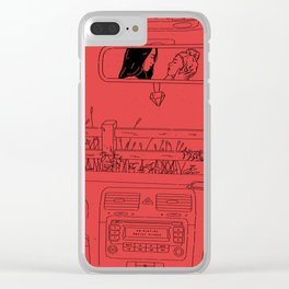 Ease My Mind Clear iPhone Case