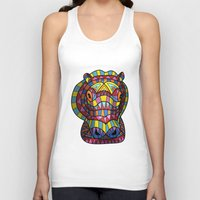 hippo Tank Tops featuring Hippo. by Farkas