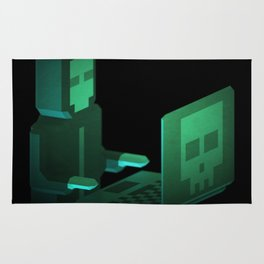 Hacker low-poly 3D artwork Rug