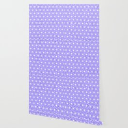 Cold Lilac Geometric Flowers and Florals Isosceles Triangle Wallpaper