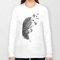 fly Long Sleeve T-shirts featuring Fly Away by Rachel Caldwell