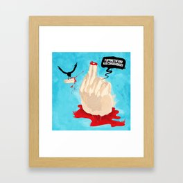 Flipping the Bird Framed Art Print