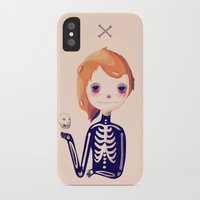 bones iPhone & iPod Cases featuring Bones by Nan Lawson