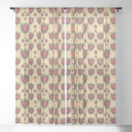 Three of Swords Sheer Curtain