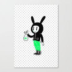 Un pececito para un conejito Canvas Print