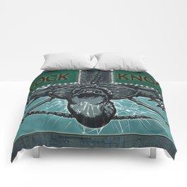 """Knock knock"" dmnerdartist@gmail.com Comforters"