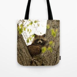 Happy in her hideout Tote Bag