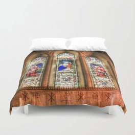 Stained Glass Windows Duvet Cover