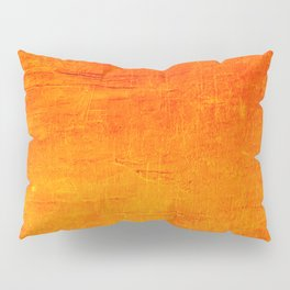 Orange Sunset Textured Acrylic Painting Pillow Sham