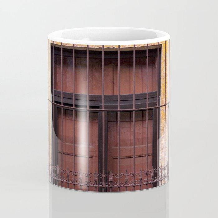 Red Window in Antigua Guatemala Coffee Mug