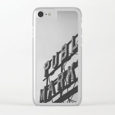 Seattle Pike Place Public Market Black and White Clear iPhone Case