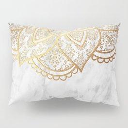 Mandala - Gold & Marble Pillow Sham