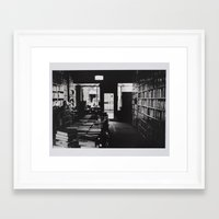 library Framed Art Prints featuring Library by Pamela Leszczynski