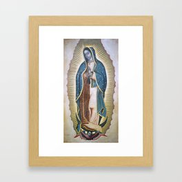 Our Lady of Guadalupe-The paint of Virgin Mary of Guadalupe in chruch Chiesa di San Benedetto Italy Framed Art Print