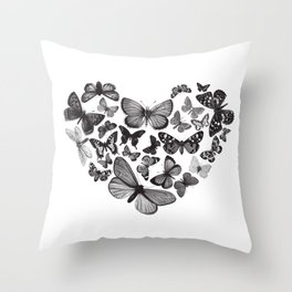 BUTTERFLY LOVE MONO Throw Pillow