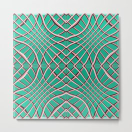 Grids and Grooves Metal Print