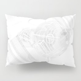 Explorer White and Grey Pillow Sham