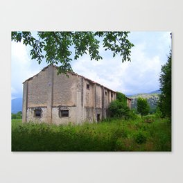 ABANDONED BUILDING IN SOUTH ITALY. Canvas Print
