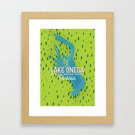 Lake Onega, russia Framed Art Print