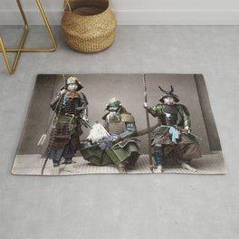 Kusakabe Kimbei - Samurai in Armour Rug
