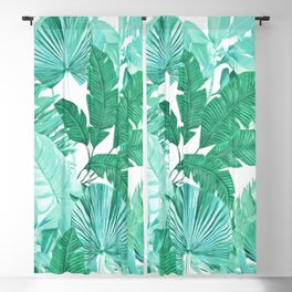 Tropical Leaf Green Blackout Curtain