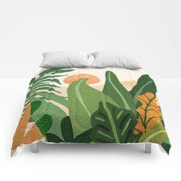 Desert Garden Sunset Comforters