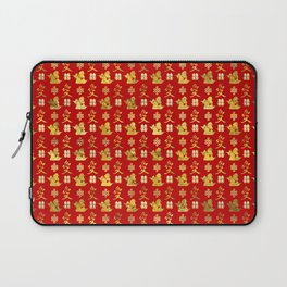 Mandarin Ducks, love and eternal knot pattern Laptop Sleeve