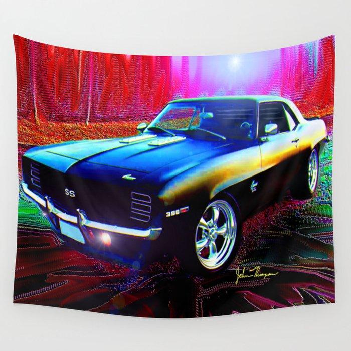 69 Camaro Ss 396 Wall Tapestry By Jtdigitalart Society6
