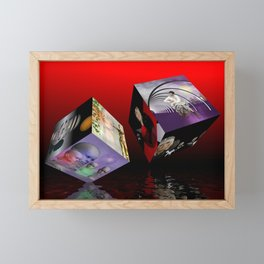 scifi meets fashion on cubes Framed Mini Art Print