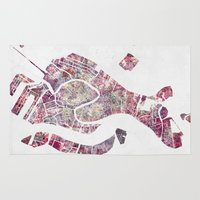 venice Area & Throw Rugs featuring VENICE by MapMapMaps.Watercolors